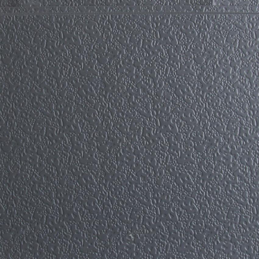 弹涂纹深灰金属雕花板