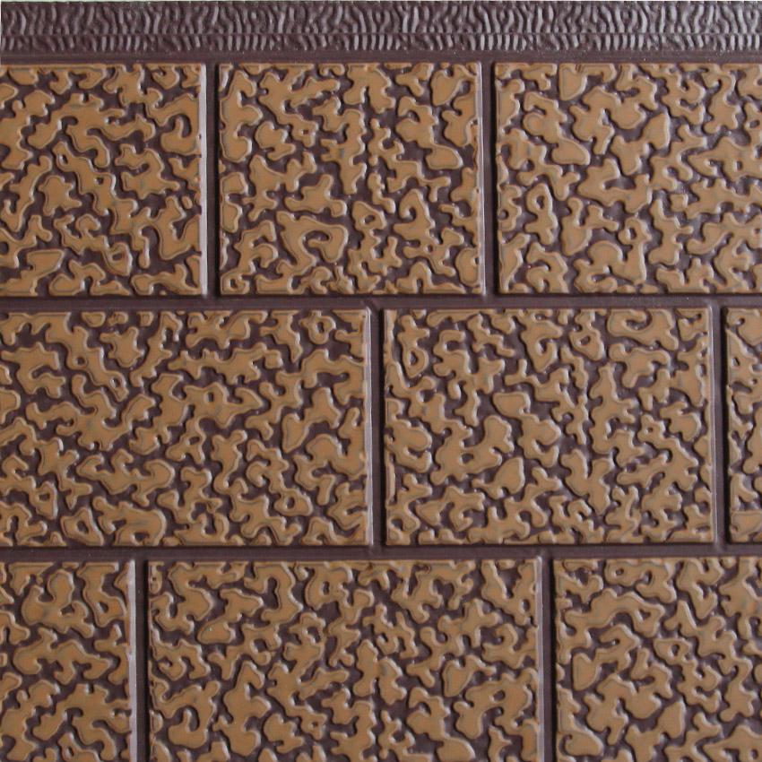三块砖金属雕花板浅棕沙辊土黄