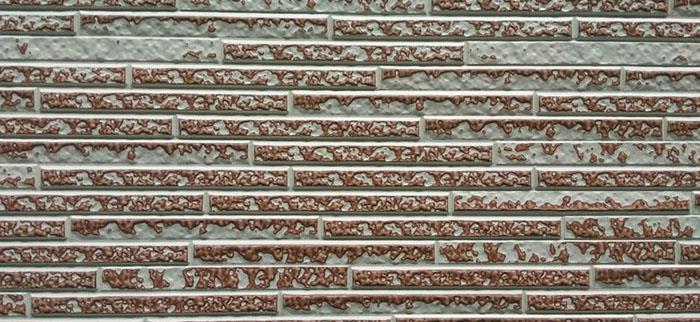 诸城长条石金属雕花板米黄复涂瓦红